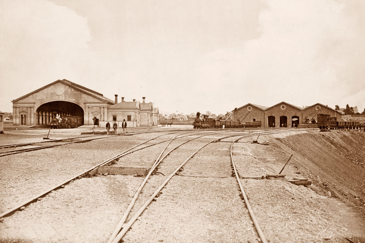 "Ballarat West Station"", ca. 1860"